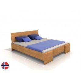 Manželská posteľ 180 cm Naturlig Blomst High (buk) (s roštom)