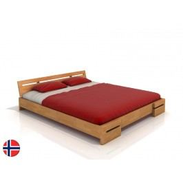 Manželská posteľ 200 cm Naturlig Bokeskogen (buk) (s roštom)