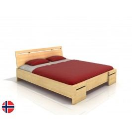 Manželská posteľ 200 cm Naturlig Bokeskogen High (borovica) (s roštom)
