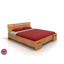 Manželská posteľ 180 cm Naturlig Bokeskogen High BC (buk) (s roštom)