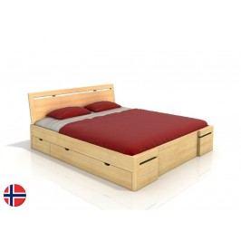 Manželská posteľ 200 cm Naturlig Bokeskogen High Drawers (borovica) (s roštom)