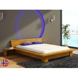 Manželská posteľ 200 cm Naturlig Boergund (buk) (s roštom)