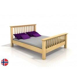 Manželská posteľ 160 cm Naturlig Leikanger (borovica) (s roštom)