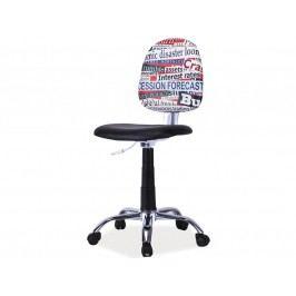 Detská stolička Grafi (čierna + vzor)