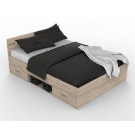 Manželská posteľ 140 cm Michigan (dub sonoma)
