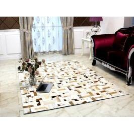 Kožený koberec TYP 01 (hovädzia koža + vzor patchwork)