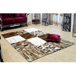 Kožený koberec TYP 04 (hovädzia koža + vzor patchwork)