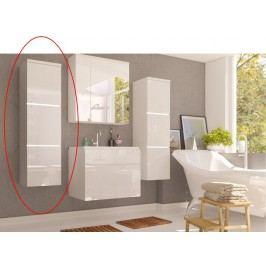 Kúpeľňová skrinka Mason (biela + biela extra vysoký lesk)