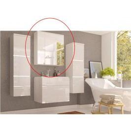 Kúpeľňová skrinka na stenu Mason (biela + biela extra vysoký lesk)
