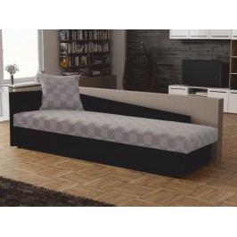 Jednolôžková posteľ (váľanda) 80 cm Judit (sivá + čierna) (s úl. priestorom) (Ľ)