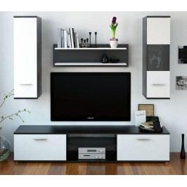 Obývacia stena Waw (čierna + biela)