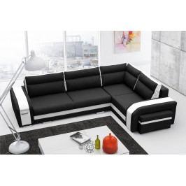 Rohová sedačka Asperata (čierna + biela) (P)
