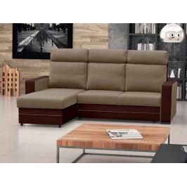 Rohová sedačka Malva (béžová + hnedá) (L)