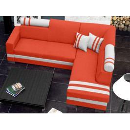 Rohová sedačka Raisa (oranžová + biela) (P)