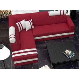 Rohová sedačka Raisa (červená + biela) (L)