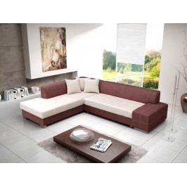 Rohová sedačka Cosma (hnedá + béžová) (L)