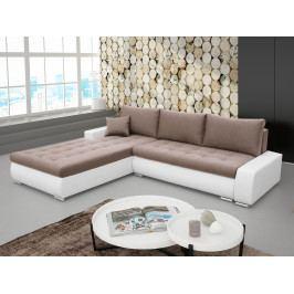 Rohová sedačka Nemisa (hnedá + biela) (L)