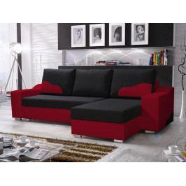 Rohová sedačka Wisteria (čierna + červená) (P)