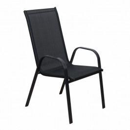 Záhradná stolička Aldera (čierna)