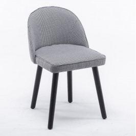 Jedálenská stolička Lalima (čierno-biely vzor)