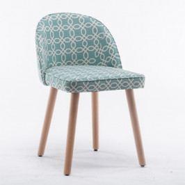 Jedálenská stolička Lalima (zelený vzor)