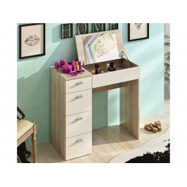 Toaletný stolík Belina (Dub sonoma + biela)