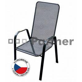 Záhradná stolička Sága vysoká (kov)