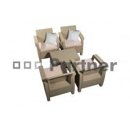 Záhradný nábytok Orion cappucino (um. ratan) *vankúše ZADARMO