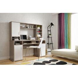 PC stolík Vigo (dub truflový + biela)