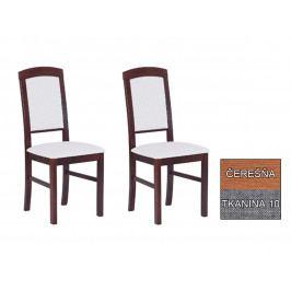 Set 2 ks. jedálenských stoličiek Avis (wenge + tkanina 10) *výpredaj