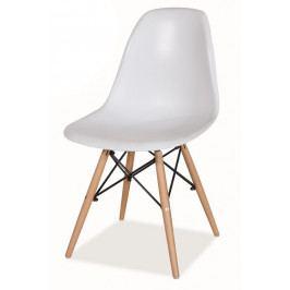 Jedálenská stolička Enzo biela MOB-4151