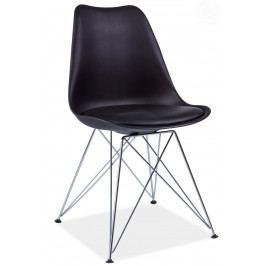 Jedálenská stolička Tim (čierna)