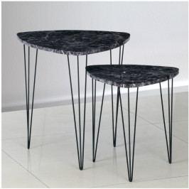Konferenčný stolík Stofol (čierna) (2 ks.)
