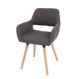 Jedálenská stolička Godric (tmavohnedá)
