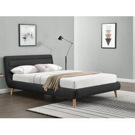 Manželská posteľ 140 cm Elanda (čierna) (s roštom)