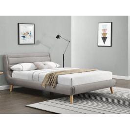 Manželská posteľ 160 cm Elanda (béžová) (s roštom)