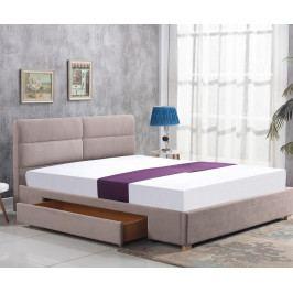 Manželská posteľ 160 cm Merida (béžová) (s roštom)