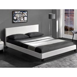Manželská posteľ 160 cm Pago (biela) (s roštom)