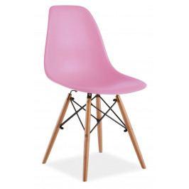 Jedálenská stolička Enzo (ružová)