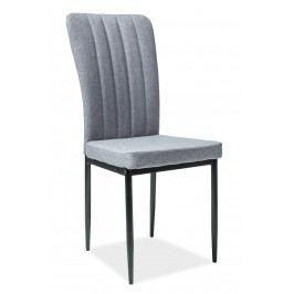 Jedálenská stolička H-733 (sivá + čierne nohy)