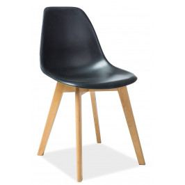 Jedálenská stolička Moris (čierna)