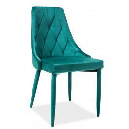 Jedálenská stolička Trix Velvet (zelená)