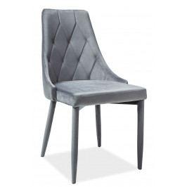 Jedálenská stolička Trix Velvet (sivá)