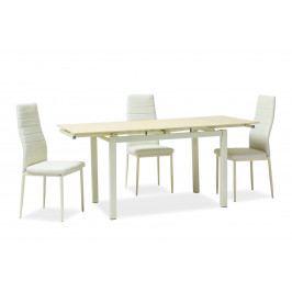 Jedálenský stôl Turin (krémová) (pre 4 až 6 osôb)
