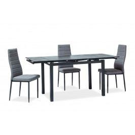 Jedálenský stôl Turin (čierna) (pre 4 až 6 osôb)