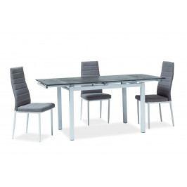 Jedálenský stôl Turin (čierna + biela) (pre 4 až 6 osôb)