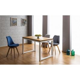 Jedálenský stôl Loras II (masív) (dub + biela) (pre 4 osoby)