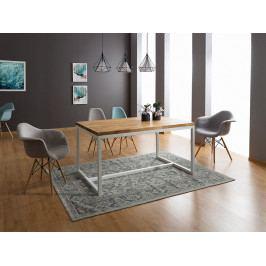 Jedálenský stôl Loras A (dub + biela) (pre 6 osôb)