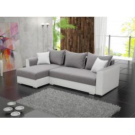 Rohová sedačka Sindar (biela + sivá) (L)