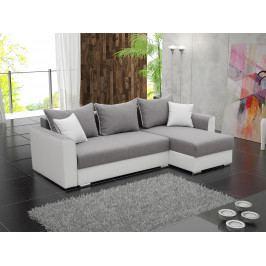 Rohová sedačka Sindar (biela + sivá) (P)